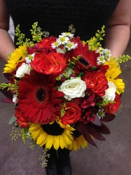 Hand Tied Sunflowers at Sunset Bouquet  from Young Floral Co in Charleston, WV