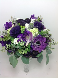 Hand tied Purple Passion Bouquet  from Young Floral Co in Charleston, WV