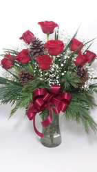 Holiday Roses in Red - 12 from Young Floral Co in Charleston, WV