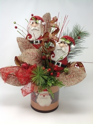 Youngs Silk Santa Pot  from Young Floral Co in Charleston, WV