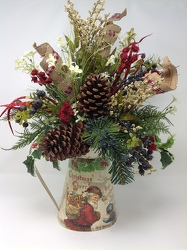 Youngs Own Silk Old World Santa Pitcher  from Young Floral Co in Charleston, WV