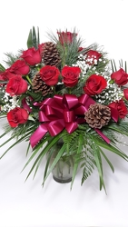 Holiday Roses in Red - 24 from Young Floral Co in Charleston, WV