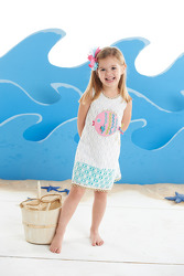 Mud Pie Crochet Fish Cover Up 2T or 4T from Young Floral Co in Charleston, WV