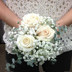 Hand tied White Rose Bouquet  from Young Floral Co in Charleston, WV