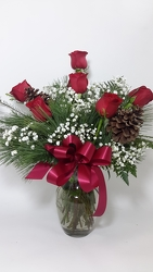 Holiday Roses in Red - 6  from Young Floral Co in Charleston, WV