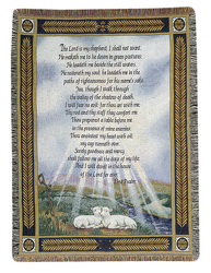 23rd Psalm Throw Tapestry by Thomas Kinkade  from Young Floral Co in Charleston, WV