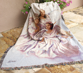 Angelic Trio Tapestry Throw from Young Floral Co in Charleston, WV