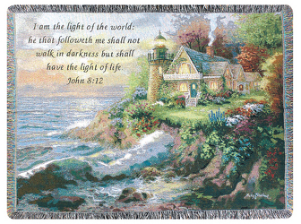 Lighthouse Tapestry Throw by Thomas Kinkade from Young Floral Co in Charleston, WV