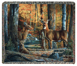 Deer Tapestry Throw by Thomas Kinkade  from Young Floral Co in Charleston, WV