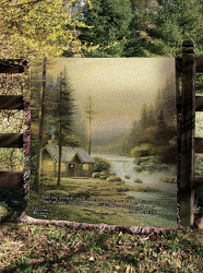 Log Cabin Tapestry Throw by Thomas Kinkade from Young Floral Co in Charleston, WV