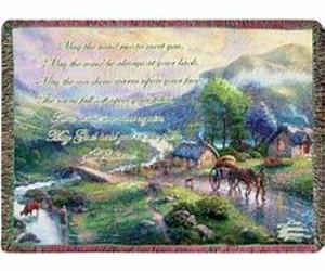 Emerald Valley Tapestry Throw by Thomas Kinkade from Young Floral Co in Charleston, WV