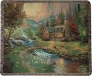 Mountain Paradise Throw by Thomas Kinkade from Young Floral Co in Charleston, WV