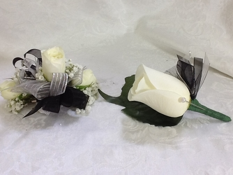Youngs Own Black Swan Corsage & Boutineer Set  from Young Floral Co in Charleston, WV