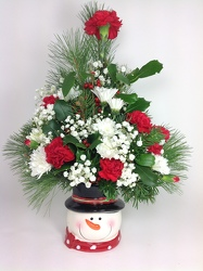 Youngs Own Bundle Up Snowman  from Young Floral Co in Charleston, WV