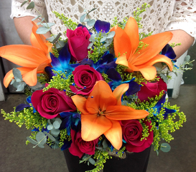 Hand tied Burst of Color Bouquet  from Young Floral Co in Charleston, WV