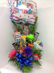 Youngs Own Candy Bouquet with balloon  from Young Floral Co in Charleston, WV