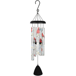 Carson Cardinals Appear 38-inch Picturesque Sonnet Windchime from Young Floral Co in Charleston, WV