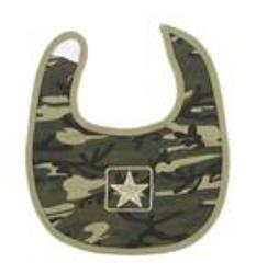 Ganz Camo Baby Bib from Young Floral Co in Charleston, WV