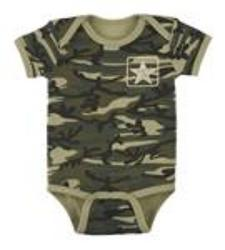 Ganz 0-6 Months Camo Diaper Shirt from Young Floral Co in Charleston, WV