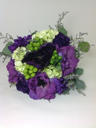 Hand tied Shades of Purple Prom Bouquet  from Young Floral Co in Charleston, WV