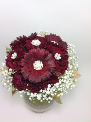 Hand tied Ruby Gerber Bouquet  from Young Floral Co in Charleston, WV