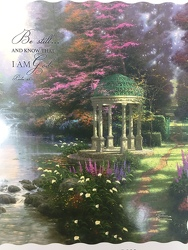 """Psalm 46:10 Be Still"" Thomas Kinkade Throw from Young Floral Co in Charleston, WV"