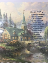 """The Lord's Prayer"" Thomas Kinkade  Throw from Young Floral Co in Charleston, WV"