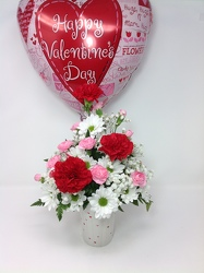 Happy Hearts Bouquet & Balloon  from Young Floral Co in Charleston, WV