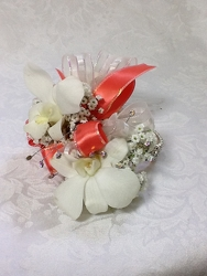 Peach Diamond Corsage  from Young Floral Co in Charleston, WV