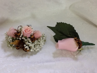 Youngs Own Pink Panther Corsage and Boutineer Set  from Young Floral Co in Charleston, WV
