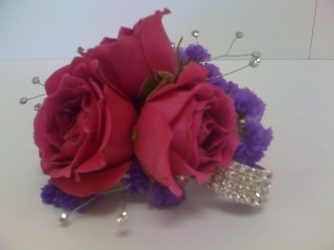 Pink & Purple Corsage from Young Floral Co in Charleston, WV