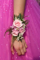 Pink Splash Corsage from Young Floral Co in Charleston, WV