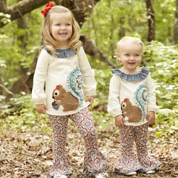 Mudpie Fall Forest Baby Girl Legging Set  from Young Floral Co in Charleston, WV