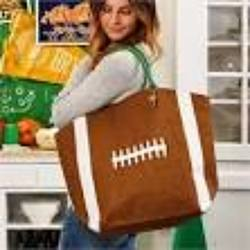 Twos Company Football Touchdown Tote from Young Floral Co in Charleston, WV