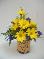 Young's Blue/Gold WV Mug Bouquet from Young Floral Co in Charleston, WV