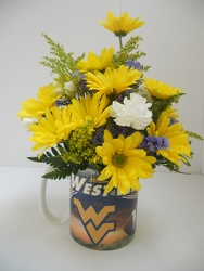 Young's WV Football Mug Bouquet from Young Floral Co in Charleston, WV