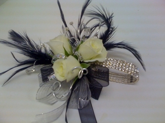 Black Diamond Corsage from Young Floral Co in Charleston, WV
