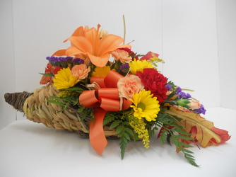 Young's Own Bountiful Harvest Cornucopia from Young Floral Co in Charleston, WV