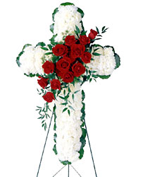 Floral Cross Arrangement from Young Floral Co in Charleston, WV