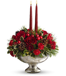 Teleflora's Mercury Glass Bowl Bouquet from Young Floral Co in Charleston, WV