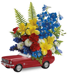 Teleflora's '65 Ford Mustang Bouquet  from Young Floral Co in Charleston, WV