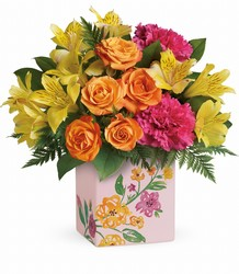 Teleflora's Painted Blossoms Bouquet from Young Floral Co in Charleston, WV