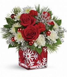 Teleflora's Silver Christmas Bouquet from Young Floral Co in Charleston, WV