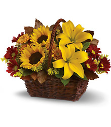 Golden Days Basket from Young Floral Co in Charleston, WV