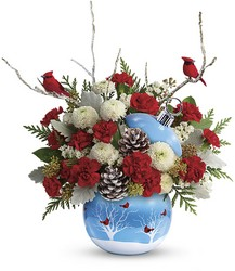 Teleflora's Cardinals In The Snow Ornament from Young Floral Co in Charleston, WV