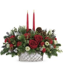 Teleflora's Merry Mercury Centerpiece from Young Floral Co in Charleston, WV
