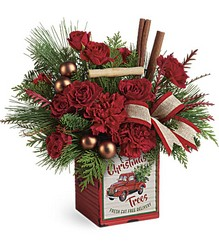 Teleflora's Merry Vintage Christmas Bouquet from Young Floral Co in Charleston, WV
