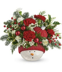 Snowman Ornament Bouquet from Young Floral Co in Charleston, WV