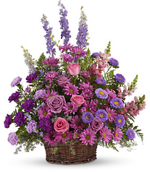 Gracious Lavender Basket from Young Floral Co in Charleston, WV
