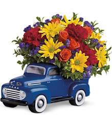 Teleflora's '48 Ford Pickup Bouquet from Young Floral Co in Charleston, WV